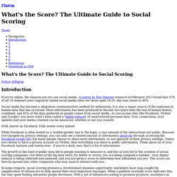What's the Score? A Guide to Social Media Influence Scoring