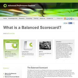 Balanced Scorecard - explained: examples, templates and case studies
