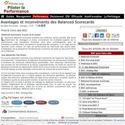 Balanced Scorecard Avantages et inconvénients Pros and Cons