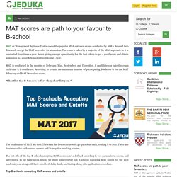 MAT scores are path to your favourite B-school
