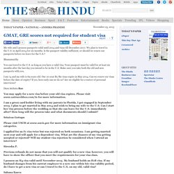 GMAT, GRE scores not required for student visa