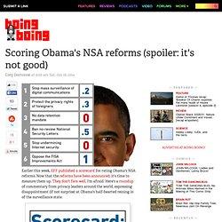 Scoring Obama's NSA reforms (spoiler: it's not good)