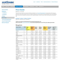 Scotframe Timber Frame Homes - Price Guide