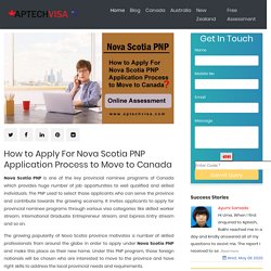 How to Apply For Nova Scotia PNP Application Process to Move to Canada