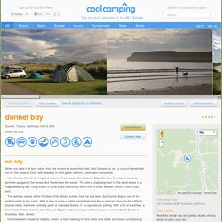 Dunnet Bay - North Scotland campsite - Cool Camping