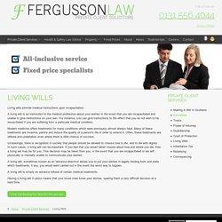 Living Wills Legal Advice in Edinburgh