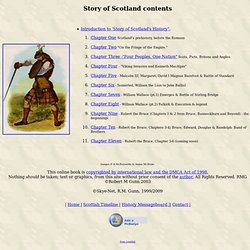 Story of Scotland's History, Online Book of Scottish History.