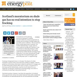 Scotland's scale gas moratorium is a political move