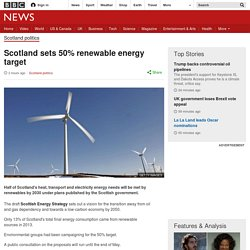 Scotland sets 50% renewable energy target