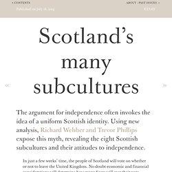 Scotland's many subcultures - Demos Quarterly