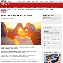Scots 'have 421 words' for snow - BBC News