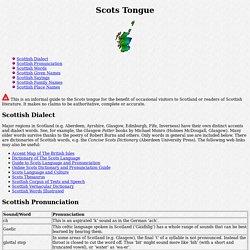 Scots Tongue