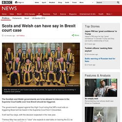 Scots and Welsh can have say in Brexit court case