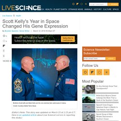 Scott Kelly's Year in Space Changed His Gene Expression