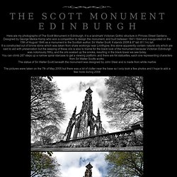 The Scott Monument - Edinburgh - Main Page