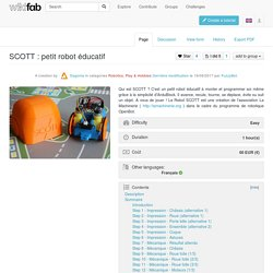 SCOTT : petit robot éducatif — Wikifab