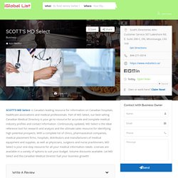Access Our Alberta Physician Directory in Canada - Scott's MD Select