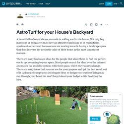 AstroTurf for your House's Backyard: scottadesign — LiveJournal