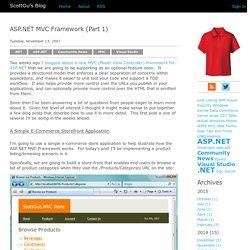 MVC Framework (Part 1)