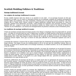 Scottish Wedding Folklore & Traditions