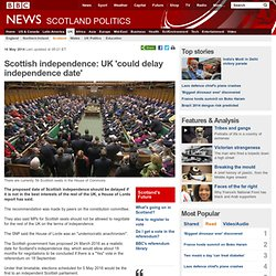 Scottish independence: UK 'could delay independence date'