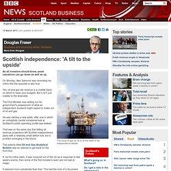 Scottish independence: 'A tilt to the upside'