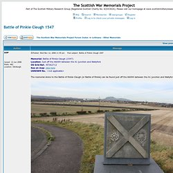 View topic - Battle of Pinkie Cleugh 1547