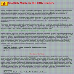 Scottish Music in the 18th Century
