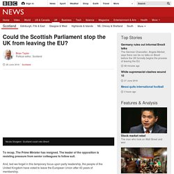 Could the Scottish Parliament stop the UK from leaving the EU?