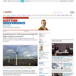 Scottish power: rich in green energy but light on green revenues