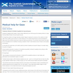 ScottishGovernment - News - Medical help for Gaza
