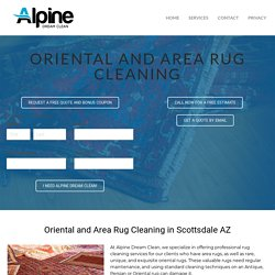 Scottsdale AZ Area and Oriental Rug Cleaning