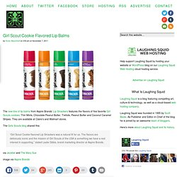 Girl Scout Cookie Flavored Lip Balms