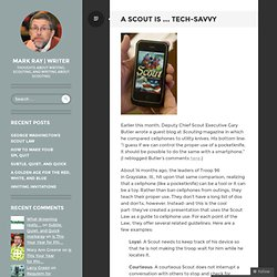 A Scout Is … Tech-savvy