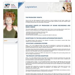 SCPP > Accueil > LEGISLATION