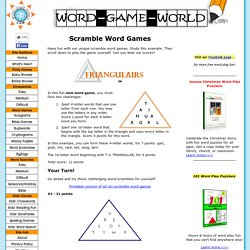 Scramble Word Games You Can Only Find Here! Try Our Unique, Free Word Scrambles!