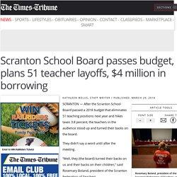 (Steve 2) Scranton School Board eliminates librarian positions