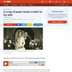 A scrap of paper leads a sailor to his wife