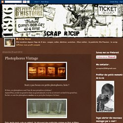 SCRAP RECUP': Photophores Vintage