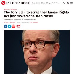 The Tory plan to scrap the Human Rights Act just moved one step closer