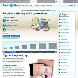 Scrapbook Printing in 12 square sizes. - Viovio