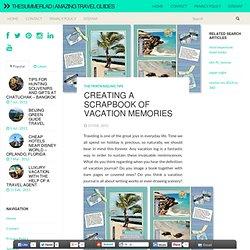 Création d'un album de souvenirs de vacances