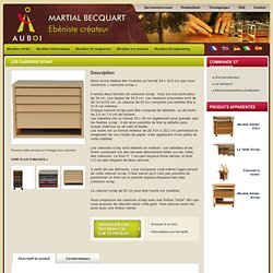 Meuble en bois pour loisirs créatifs