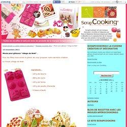 """Moule pour gâteaux """"village de Noël"""" . - ScrapCooking® La cuisine créative et décorative"""