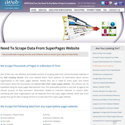 Scrape Super Pages, Yellow Pages Data Scraping, Extract Data from Super Pages