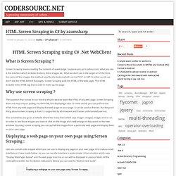HTML Screen Scraping in C# by azamsharp