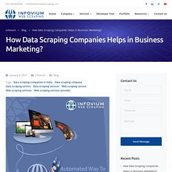 How Data Scraping Companies Helps in Business Marketing - Infovium