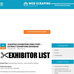 Scraping Exhibitors Directory – Extract Exhibitors Database