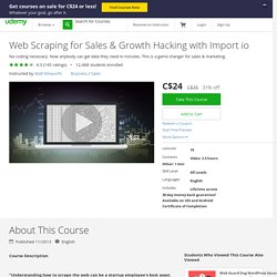 Web Scraping for Sales & Growth Hacking with Import io