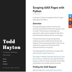 Scraping AJAX Pages with Python · Todd Hayton
